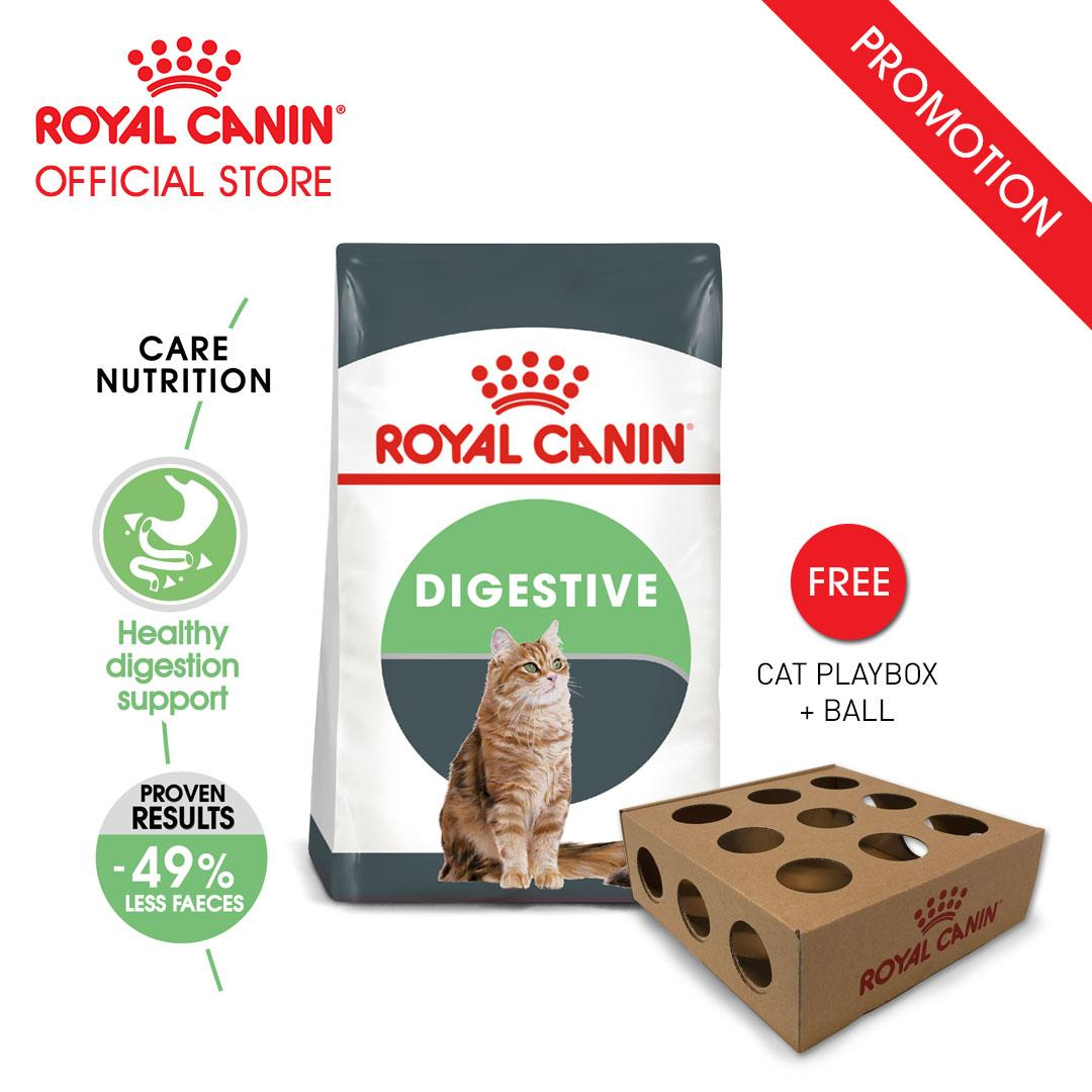 Royal Canin Digestive Care Makanan Kucing Dewasa Dry 2kg FREE Cat Playbox