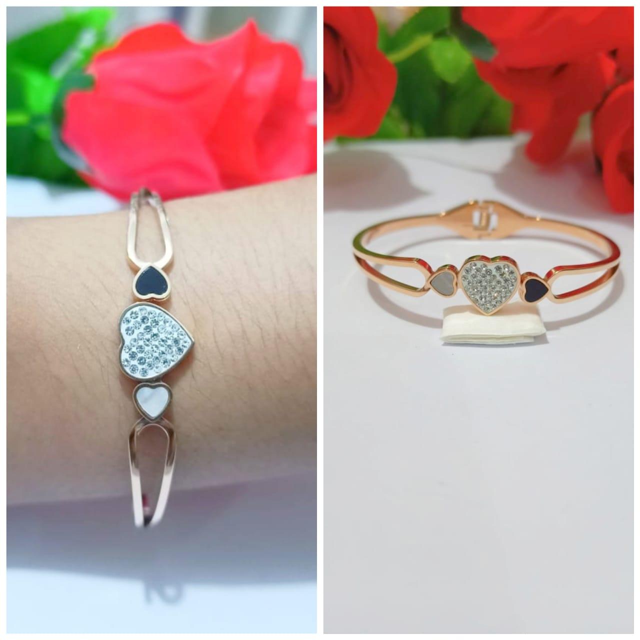 [four-u official store] gelang tangan pria / rantai stainless steel anti karat – silver