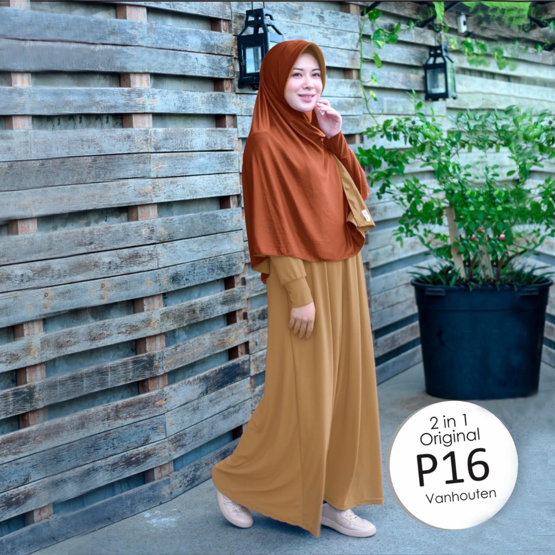 Jilbab 2 Warna / Jilbab Instan Bolak Balik / Hijab Instant / Kerudung Syari / Bergo