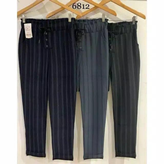 bza-celana salur wanita bahan katun import-premium quality-cod