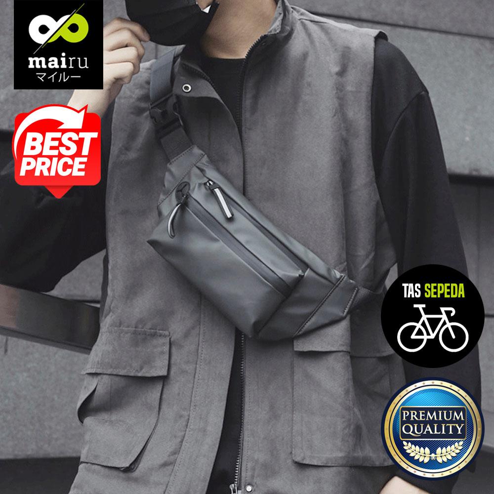 mairu 331 tas pinggang sepeda pria olahraga lari selempang sling bag
