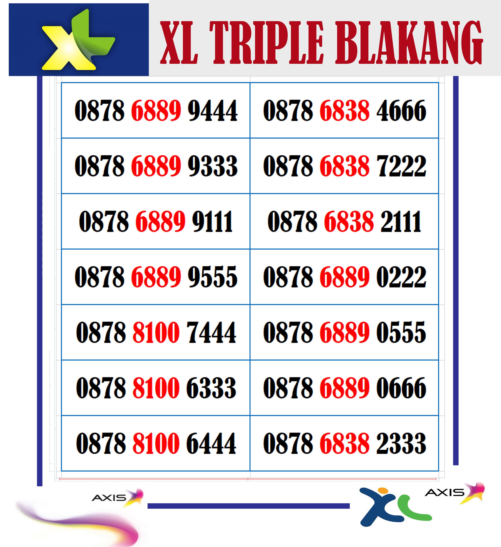 nomor cantik kartu xl axiata seri triple nocan  bisa cod