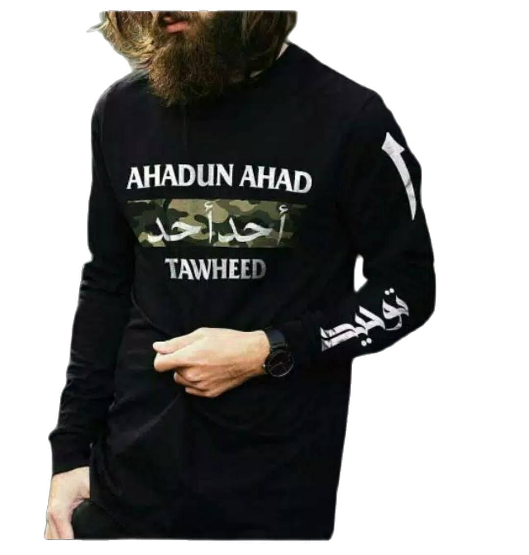 kaos panjang longsleve muslim ahadun ahad