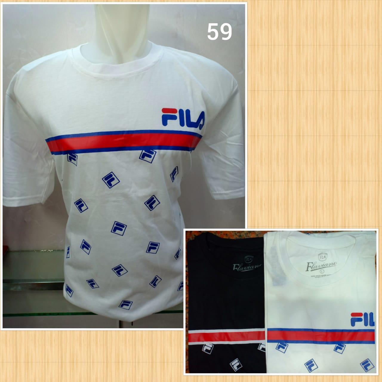 Baju Kaos Cowo Pria Model Bahan Adem Fila 1N1CORN - 3