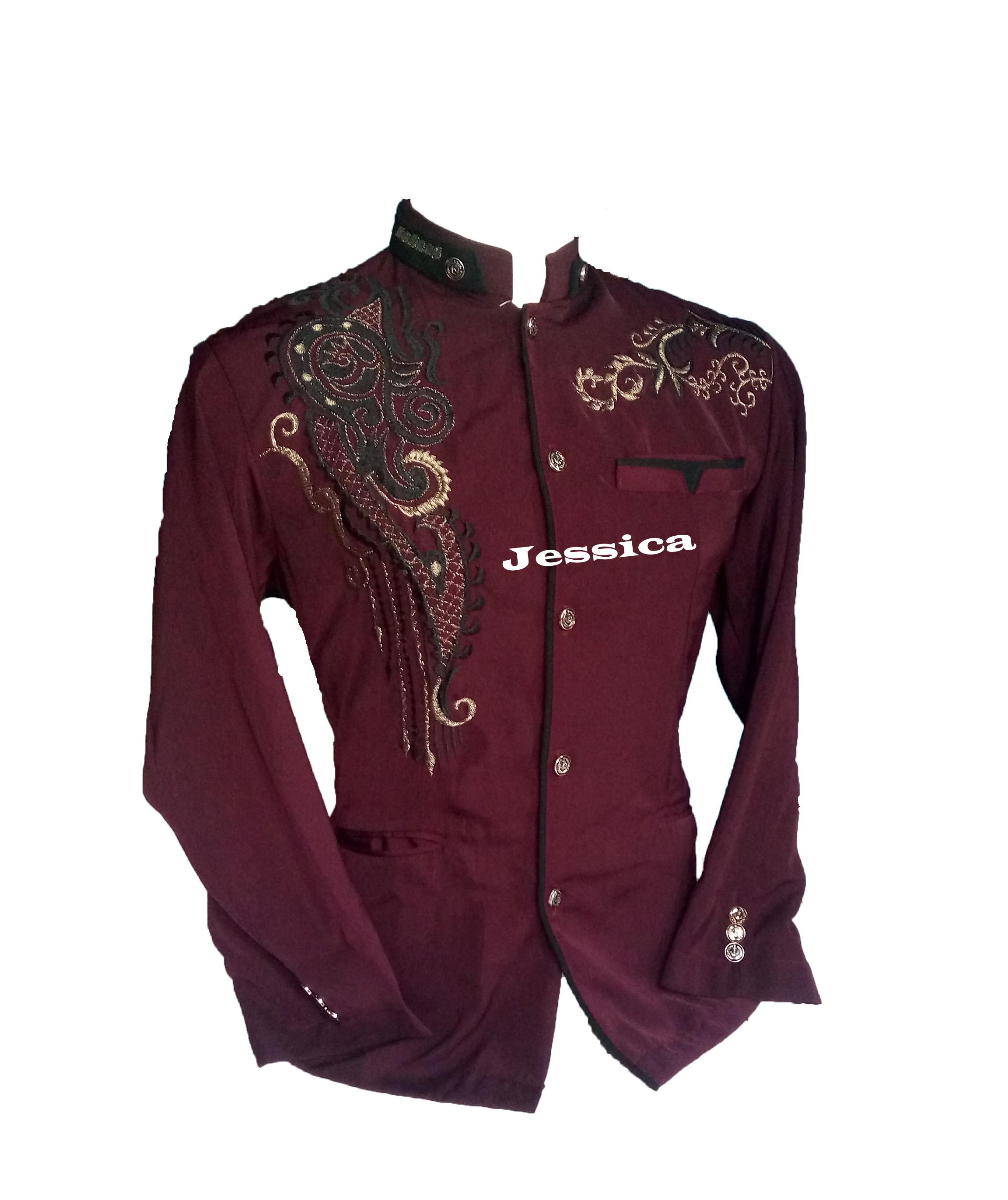 promo jasko /jasko pria/busana muslim pria/atasan muslim pria/baju koko/jasko  marun lis hitam motif jsc