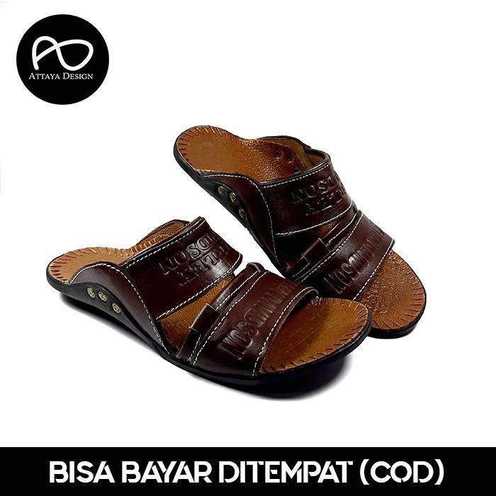 sandal pria branded kulit asliberkualitas terbaik   model selop 2ban pt – attaya design