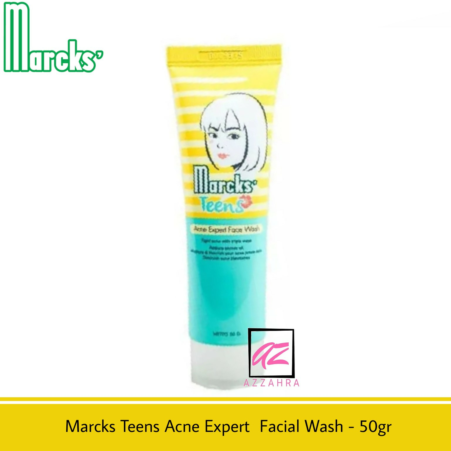 marcks teens acne expert facial wash – 50gr