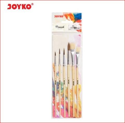 1  set brush / kuas cat air / lukis / acrylic joyko br-1