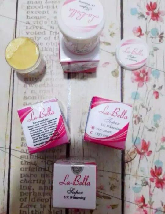 krim labela / cream labella / la-bella super uv. whitening cream day end night original / cream pemutih pencerah wajah