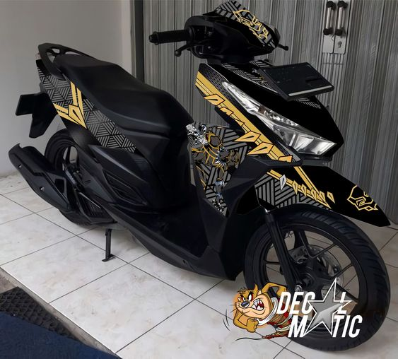 decal stiker full body vario 125 150   old honda click blackpanther