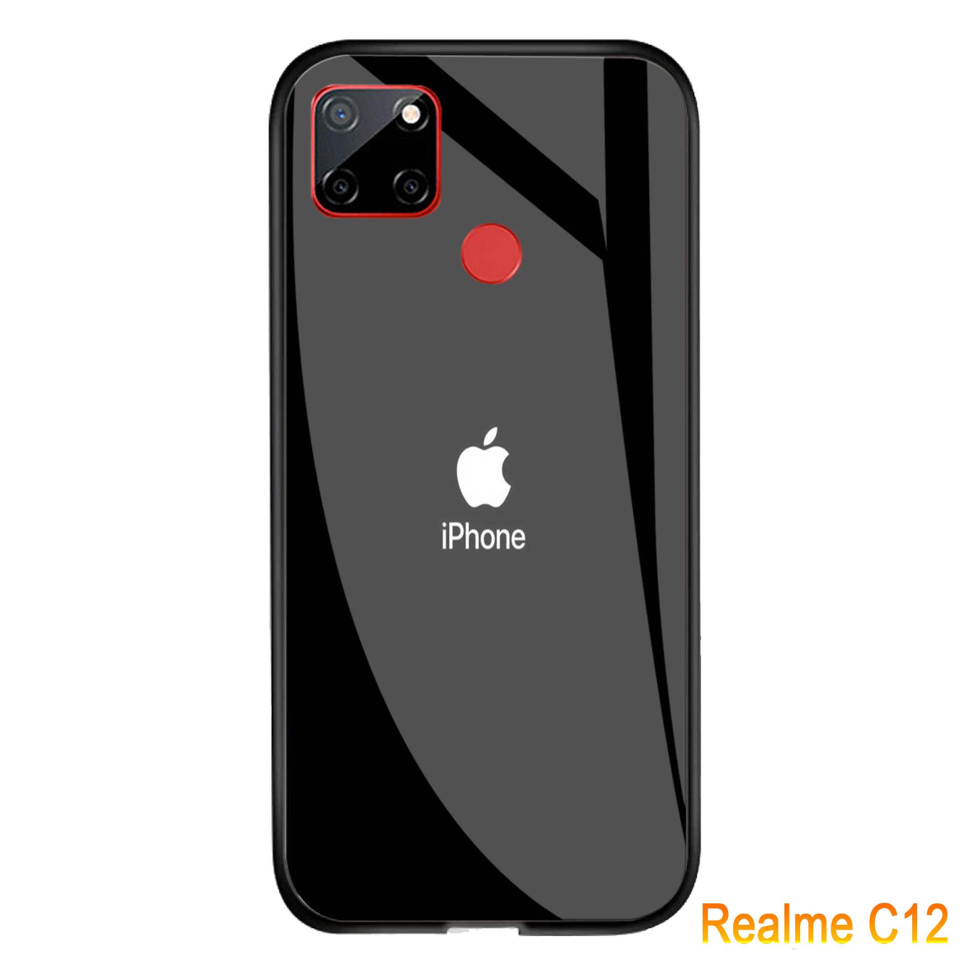 softcase glass kaca joker realme c12 – j34 – casing hp-pelindung hp-case handphone
