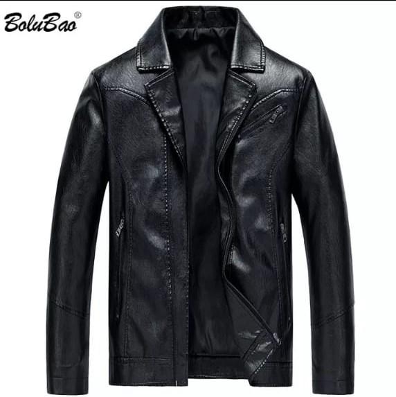 rd jaket  pundak model  jaket semi kulit sintetis