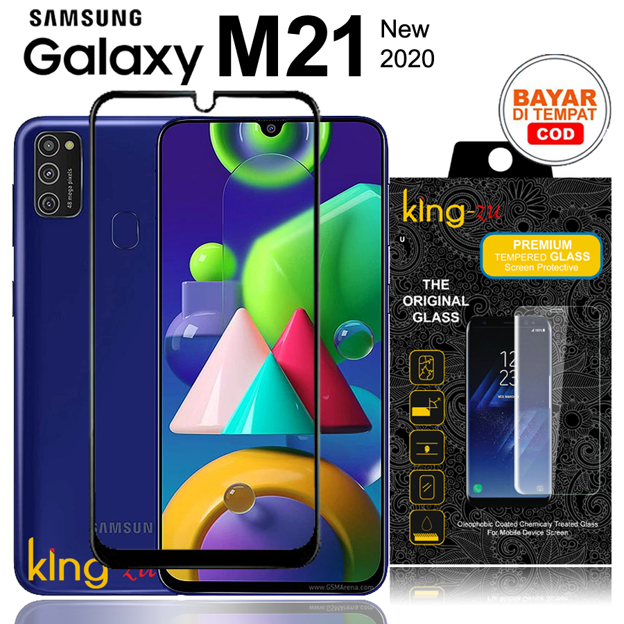 Bayar Di Tempat Tempered Glass Full Lem Full Cover - Premium Glass Samsung Galaxy M21 (6.4 inch) 2020 New Anti Gores Kaca List Hitam / Screen Guard / Screen Protector Full Screen Glass (COD) Full Screen Black Screen Anti Gores / Hitam