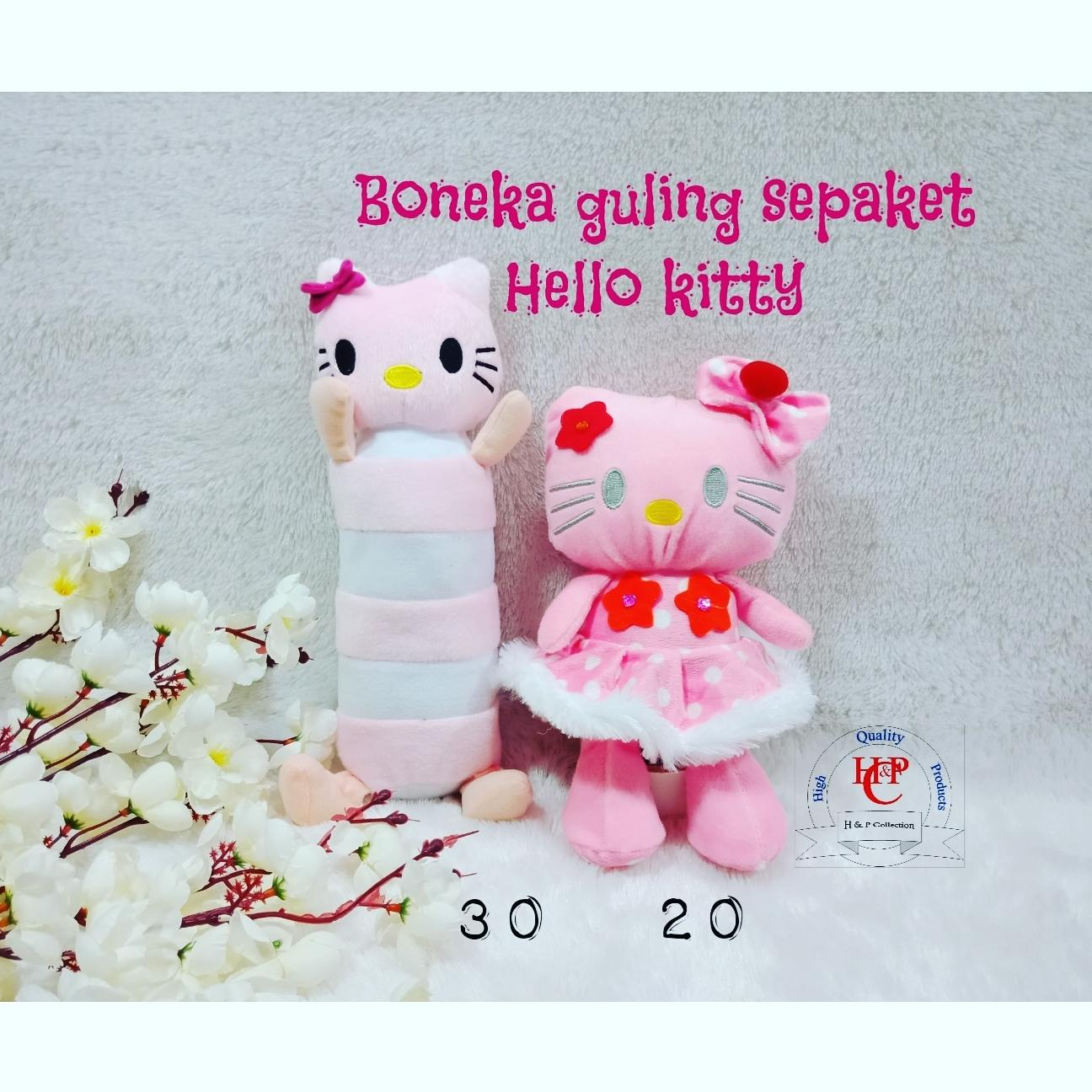 boneka S + guling Hello kitty sepaket
