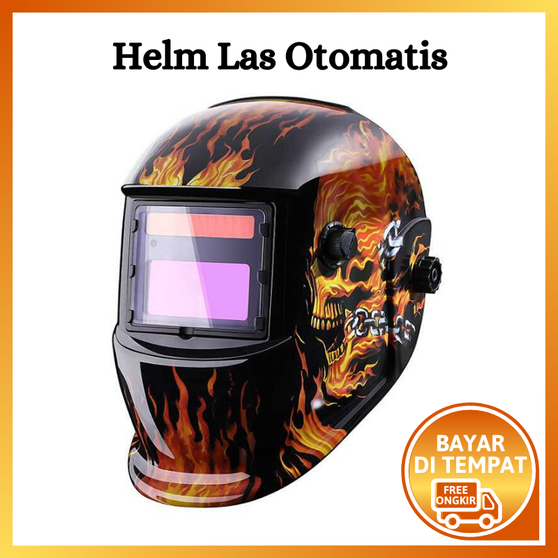 helm las otomatis gelap auto darkening ( helem helm las otomatis auto darkening soldering goggles / helm las auto gelap / helm las otomatis gelap auto darkening / welding auto darkening helm)