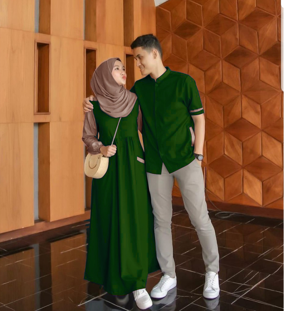 farel couple – gamis + atasan cowo