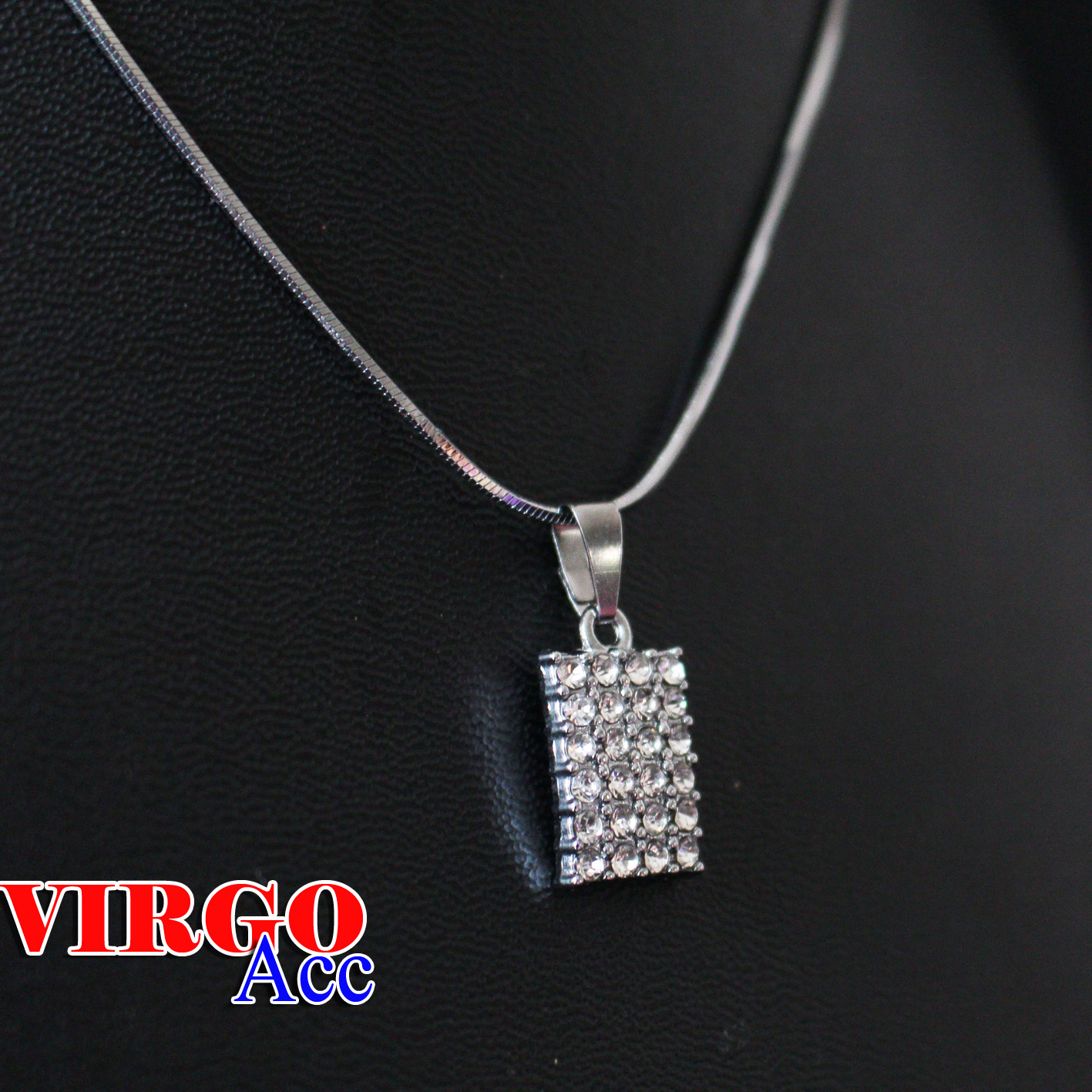 promo kalung perhiasan wanita liontin love full silver new anti karat