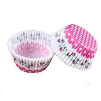 100 Pcs/lot Alat Masak Minyak Bukti Kertas Kue Mangkok Liners Baking Muffin Cupcake Dapur