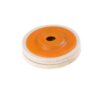 100mm 4 Inch Wol Buffing Grinding Wheel Felt Cakram Pemoles Pads Set Kuning-Intl