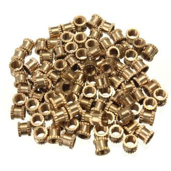 100PCS M3 Brass 3mm Thread Knurled Inserts Nuts 4mm(L)-4mm(OD