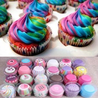 100 Pcs Muffin Kertas Pembungkus Cupcake Baking Cangkir Case Muffin Kotak Kue Cangkir Dekorasi Tools (
