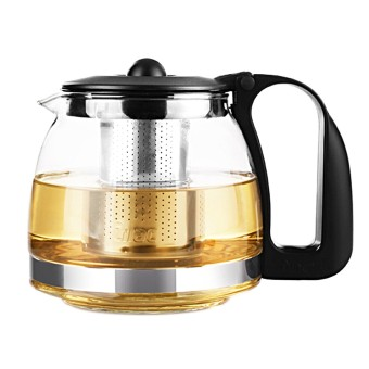 1250 Ml Kaca Bening Teko Tahan Suhu Tinggi Loose Leaf Flower Tea Pot Maker Brewer dengan