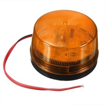 12 V Lampu Alarm Keamanan Sinyal Memperingatkan LED Peringatan Lampu Sirine Kedip Orange
