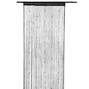 1 M X 2 M Beaded Line Dinding Ruang Tamu Pembagi Strip Garis Rumbai Tali Tirai