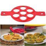 1 PC Non-stick Fantastis Pancake Cincin Silikon Maker Kitchen Penggorengan Cetakan Telur (Merah ...