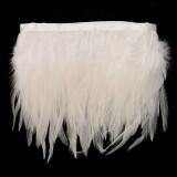 ... M Ayam Hackle Bulu Jumbai Hiasan Topi Wanita Bahan Kerajinan Menjahit Kostum Putih-Intl ...