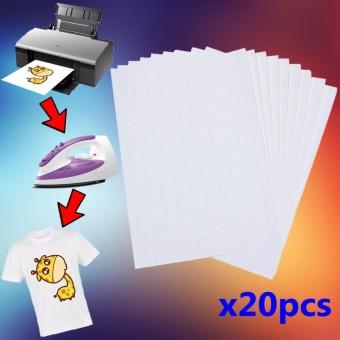 Jual 20 sheets a4 iron on inkjet print heat transfer paper for dark 20 lembar iron on t tee shirt light transfer kertas a4 untuk printer inkjet intl malvernweather Choice Image