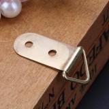 20Pcs Metal Iron Wardrobe Photo Frame Hook Double Hole Yellow Hanging Hooks Closet Hanger Holder ...