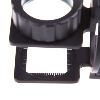20X Foldable Magnifier Stand Measure Scale Loupe Magnifying Glass Portable - intl