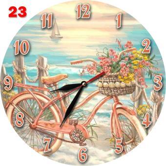 Fitur  23 Jam Dinding Cantik Romantis Nuansa Pantai Motif Gambar ... c6db6dfacf