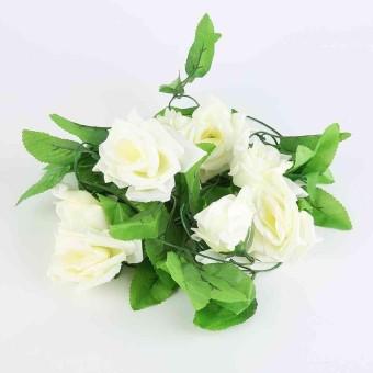2.4 M Buatan Mawar Bunga Palsu Dedaunan Merambat Ivy Daun Tanaman Hiasan Dekorasi Pernikahan-Internasional
