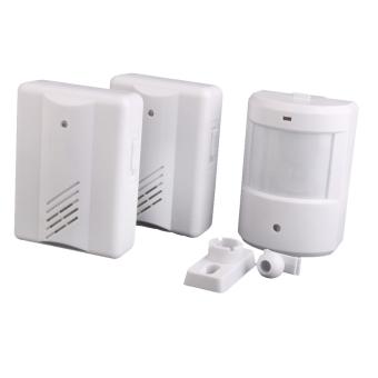 2in1 Entry Door Alarm Lonceng Bel Pintu Nirkabel IR Monitor Sensor Detector