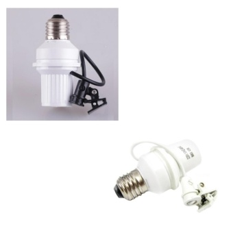 2pcs Fitting Lampu Otomatis Sensor Cahaya Siang dan Malam Downlight Lampu Plafon Plafond Panel Sorot Fiting