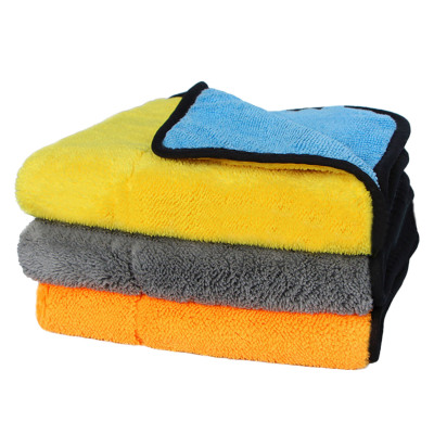 3 PCS Assorted Colors Microfiber Dual Sided Cleaning Cloths Car Polishing Drying Detailing Towels 45 x