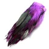 ... 30 Cm Ayam Hackle Bulu Jumbai Hiasan Topi Wanita Bahan Kerajinan Menjahit Kostum Ungu Tua- ...