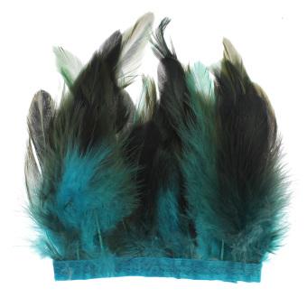 30 Cm Ayam Hackle Bulu Jumbai Kerajinan Jahit Bahan Kostum Topi Wanita Menghias Langit Biru