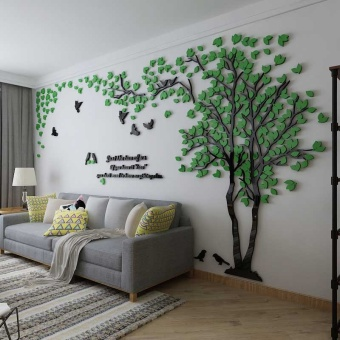 Wall Stiker Wallpaper Self Adhesive Ruang Tamu Room Sofa Televisi