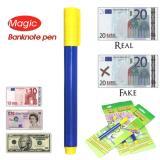 ... 3 Pcs Uang Checker Marker Detektor Pemalsuan Palsu Uang Kertas Tester Pen (Biru And Kuning ...