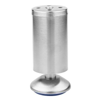 4 Pcs/set Tinggi Bisa Disesuaikan Kabinet Kaki Kaki Silver Stainless Steel Table Bed Sofa