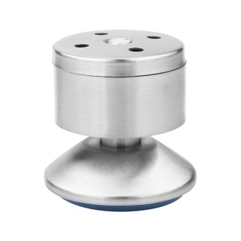 4 Pcs/set Tinggi Adjustable Kabinet Kaki Kaki Silver Stainless Steel Table Bed Sofa (