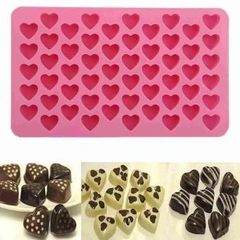 55 Mini Jantung Kue Cetakan Coklat dari Silikon Kue Panggang Cetakan Baru-Intl
