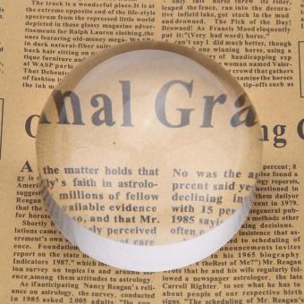 5X50mm Crystal Acrylic Glass Dome Magnifier Paperweight Peta Alat Pembesar untuk Membaca Aid-Intl