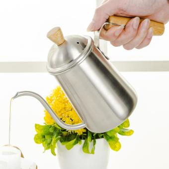 650ml Stainless Steel Coffee Drip Pot Kitchen Tea Kettle With Long Over Gooseneck Spout - intl