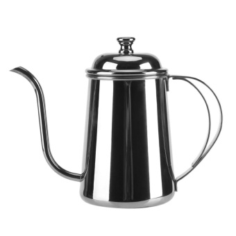 650ML Stainless Steel Gooseneck Coffee Tea Spout Kettle Pour OverBrewing Drip Pot- Silver - intl
