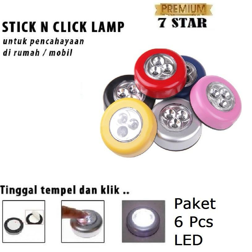 Lampu Tempel Darurat 3 LED. Source · Hot Deals Stick N Click .