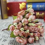 7 Warna Buatan Bunga Mawarbouquet Rumah Hotel Kamar Pernikahan Partai Dekorasi Pernikahan-Intl - 4